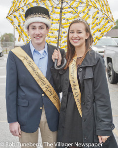 Homecoming King E.J. Wennerberg and Queen Addison Reimer