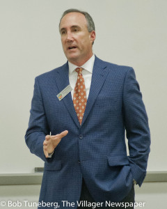 Cuyahoga County Councilman Dave Greenspan hosted his October Town Hall meeting at Tri-C West Shore.