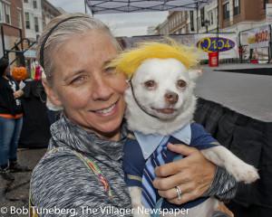 Doggie Trump Campaigns  at Crocker Park