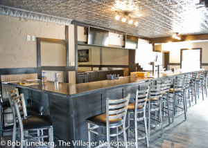 The new interior of the Dover Gardens Tavern is being prepared to open this month.