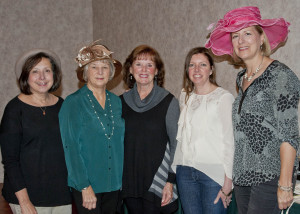 Social workers and event coordinators Gwen Paull, Debbie Adams, Sara Follmer, Nicole Herbst and Peggy Filippi.