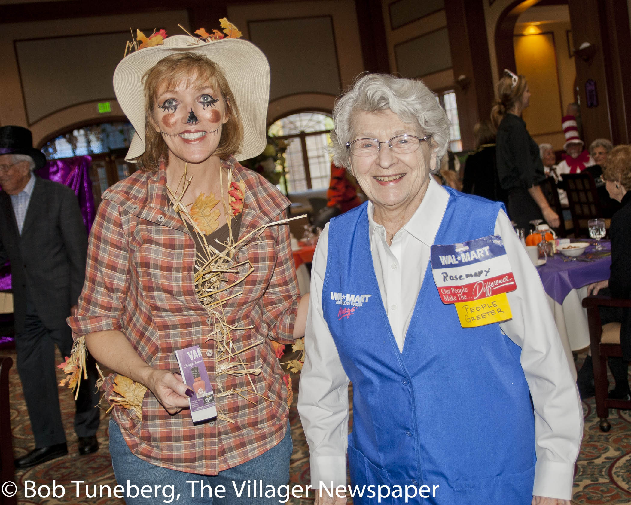 Off to see the Walmart Greeter.  sc 1 st  The Villager Newspaper & Costume Party at The Normandy Celebrates Residents | The Villager ...