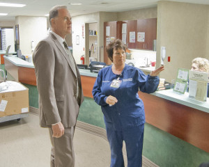 Thomas F. Zenty III, CEO, University Hospitals met with SJMC staff and toured the hospital during his visit.
