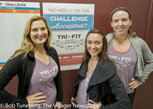 Vicki Hyland, Danielle Conte and Kendra Murphy of Avenue Fitness Club in Avon Lake's Learwood Square.
