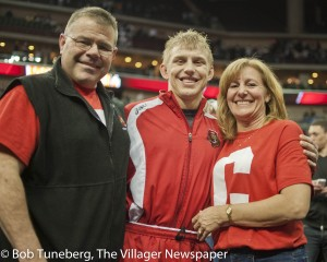 Dad Doug Dake, Kyle Dake and mom Jodi Provost Dake. Doug and Jodi were athletes at Kent State University