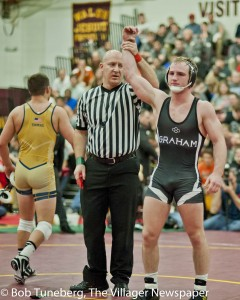 Alex Marinelli of St. Paris Graham was named OW at the 2015 Walsh Ironman Tournament. The two-time Ironman champ will wrestle at Iowa.