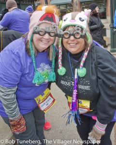 Maura Schlegel and Eva Kovach were among the 300-plus participants who started 2016 off on the right foot at the Crocker Park Resolution Run New Year's morning.
