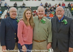 Honorary inductee Jon Thompson, Athletic Hall of Fame inductee Dr. Jennifer Psota Dougherty, Distinguished Hall of Fame inductees Mr. Mike Antonyzyn and Mr. Robert Clancy