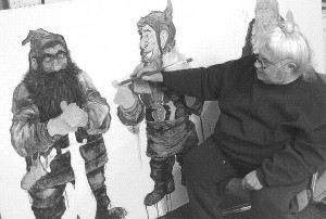 Sally Price painting her elves in preparation for the Renaissance Fayre held in Bay Village for nearly 30 years.