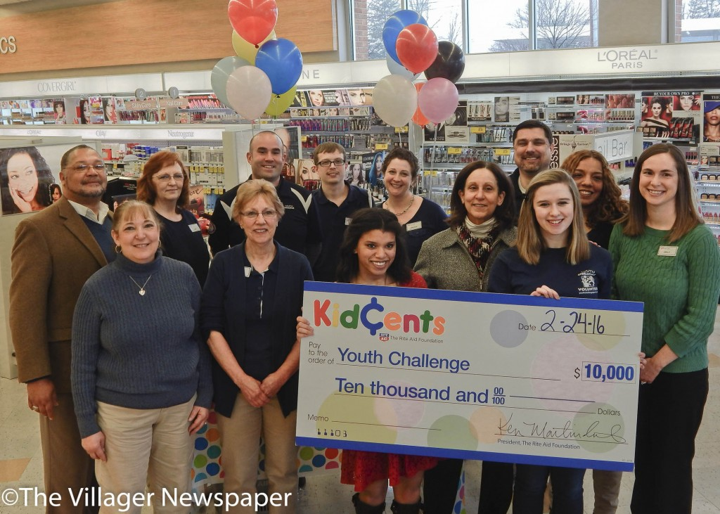 Rite Aid associates and management presented a check for $10,000 to Youth Challenge staff and Board of Trustees student interns at the Westlake store located at 27175 Center Ridge Road.