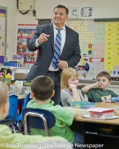 Avon Mayor Bryan Jensen stopped by Avon East Elementary last week for a question & answer session with the second grade.