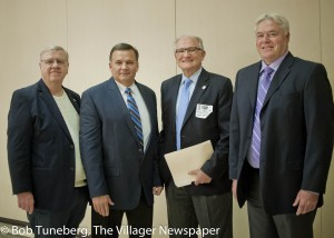 Sheffield Mayor John Hunter, Avon Mayor Bryan Jensen, Avon Lake Mayor Greg Zilka and Sheffield Lake Mayor Dennis Bring.
