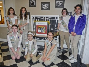 CadetteTroop 71345 with one of the 2 Little Free Libraries they built.