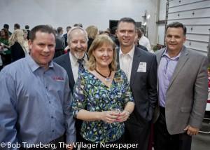 Grant Alexander GK's Custom, John Sobolewski, West Shore Chamber Director, Tammy Bertrand, Gregg Morris and Avon Mayor Bryan Jensen.
