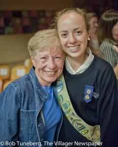 Reagan Hardy with proud grandma Marianne Hardy