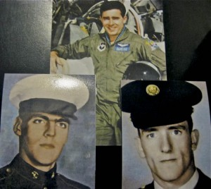 Air Force Capt. John M. Barelka (top), Marine Cpl. David F. Schneider (left) and Army Sgt. Patrick E. Smith, Jr.