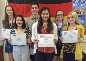 WHS German students Catherine Meng, Selena Kash, Patrick Steffen, Kimaya Bakhle, Alexis Sole and Zoe Johanni. Missing: Sarah Leonard.