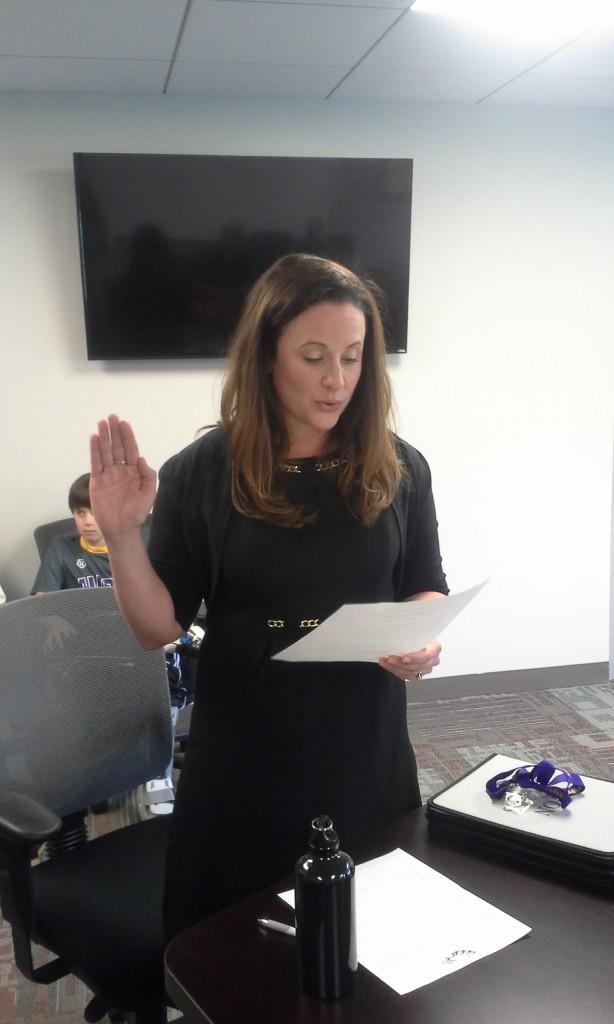 Kelly Zurawski sworn in