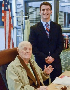 Tommy Bowles with Senator John Glenn