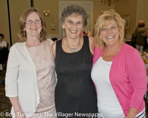 Dr. Debra Pratt, Program Director Fairview Hospital Breast Health Center with cancer survivor Marilyn Olson and Mary Longdon, PA.