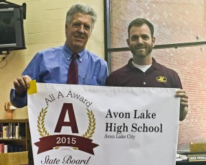 Superintendent Robert Scott and Principal Dr. Brad Cocco