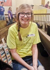 8th grader Josie Reinker.