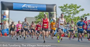 A record turn out of 1,400 runners took part in this year's Eagle Run.