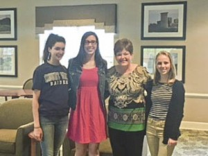 Hannah Lieb, Hayley McIntyre, Candy Sanson, Administrator of O'Neill Healthcare) and Mary Quinn.