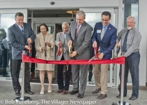 Avon Mayor Bryan Jensen, left, welcomed officials to the grand opening of the new Residence Inn by Marriott June 28, now open in Avon.