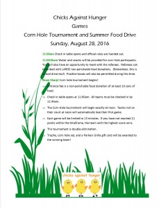 Corn hole schedule 2016