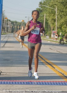 Monicah Ngige won the female open 5 Mile Run title at the 2015 Celebrate Westlake, clocking 27:00.