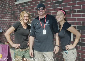 Discount Drug Mart Manager Chip Kettler with fellow employees Monica and Gabby.