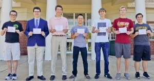 Avon High School National Merit Scholarship Commended Students: Thomas Bulger, Nicholas Coffey, Benja-min Colston, Samuel Eddington, Mitchell Malinowski, Austin Williams and Spencer Yates.