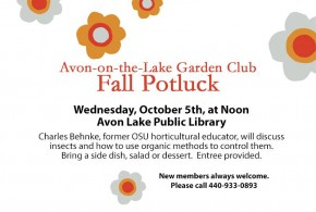 Garden Club's Fall Potluck & Insect Instruction
