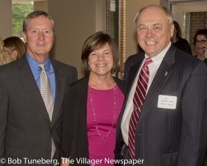 Jack and Mary Binder with David T. Dombrowiak, President and CEO Community West Foun-dation.