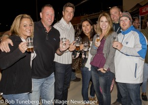 Mike Vlasak (center) joined with friends for a great time at the 1st annual Crushers Beer Fest Saturday. Mike is owner of Jet's Pizza in Westlake.
