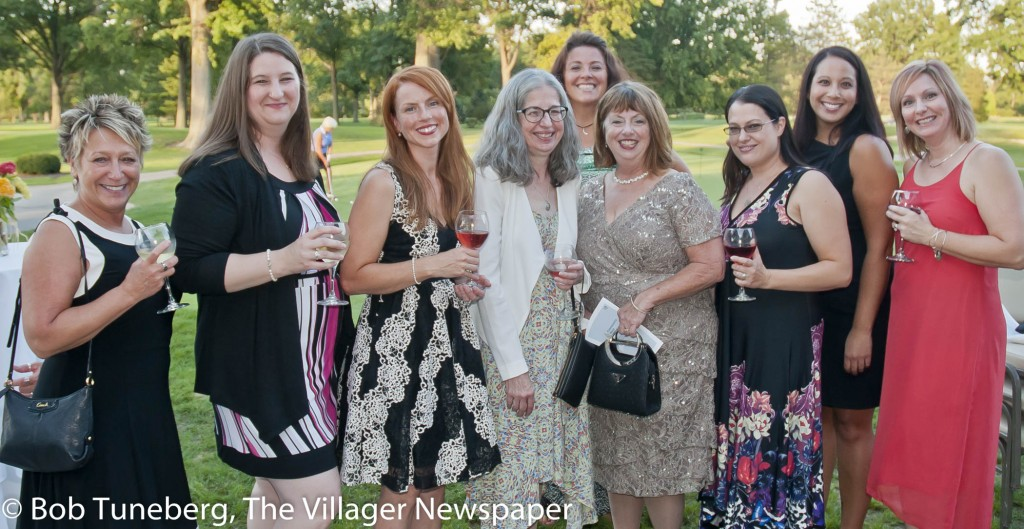 NICU nurses Annette Nedrich, Liz Germano, Dawn Howard, Shelagh Stoicoiu, Julie Shaw, Denise Speer, Amy Reutzel, Carolyn Kramer and Laura Godenswager celebrate a successful evening.