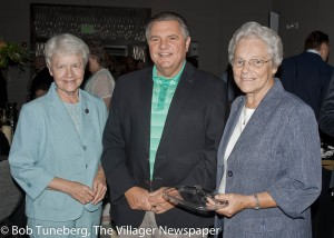 Carole Anne Smith, H.M., Edwin Oley, President and CEO of Lorain Mercy Hospital and Carol Ann Griswold, H.M.