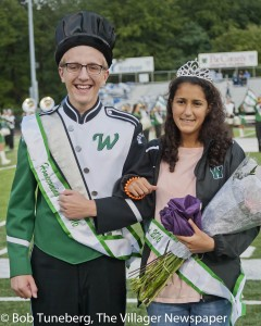 Westlake High School Homecoming 2016 King Jeremy Schwochow and Queen Noor Faroum