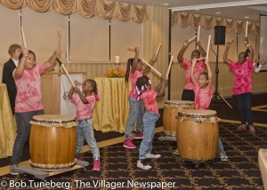 "Denison Avenue United Church of Christ drum group performed Dekiru Daiko, ""We Can Do It""  as a special tribute to 2016 Art of Caring Award recipient Aggie Hoskin."