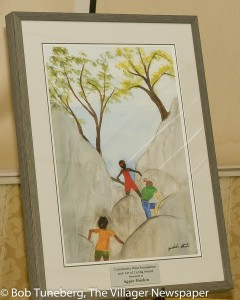 The 2016 Art of Caring Award created by artist Yoshiko Ikuta.