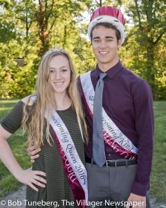 Avon Lake King Homecoming King Nathan Plow and Queen Tessa Lubertozzi