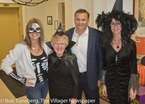 Carmelina Barbera, Bernadine Butkowski, Mayor Bryan Jensen and Annmarie Nyikes