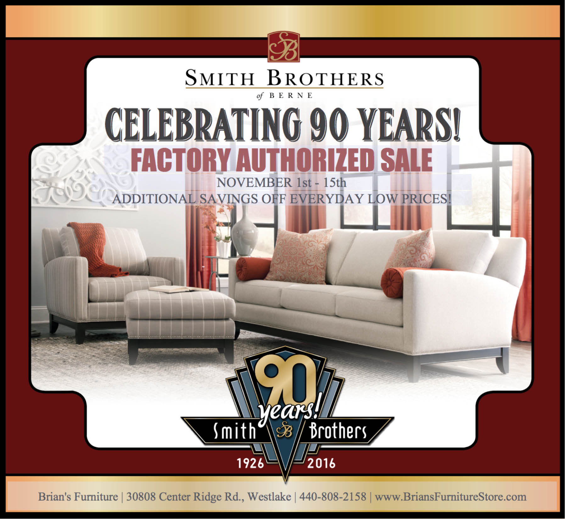 Smith Brothers Sale At Brianu0027s Furniture In Westlake