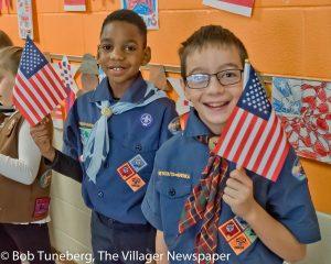Bassett School Cub Scouts honor America