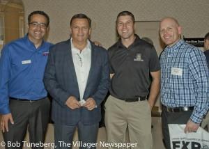 Chamber President Tony Gallo, Avon Mayor Bryan Jensen, Bill Hricovec of Tom's Country Place, and Bill Elliott, LCJVS.