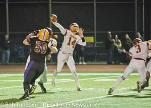 Quarterback Mark Pappas finds a receiver.