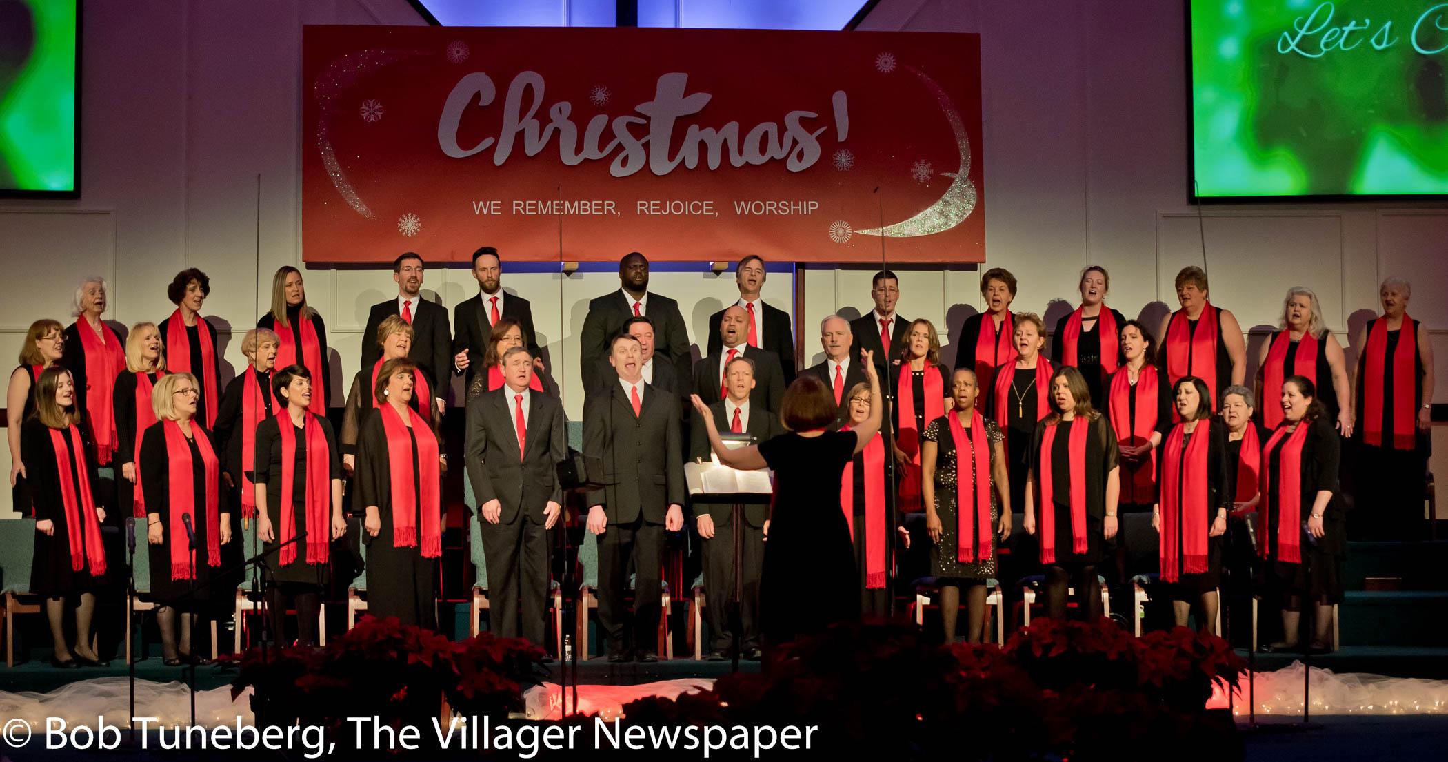 Director Robin Nichols leads the Christian Heritage Church Choir in this year's Christmas Canta-ta
