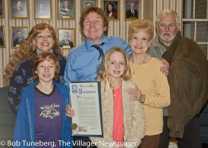 Rick and Anna Burns with their children, Mike and Juliana, Ellen Burns and longtime friend Terry Connors.