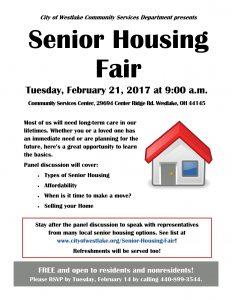 Comm Svcs Senior Housing Fair Flyer